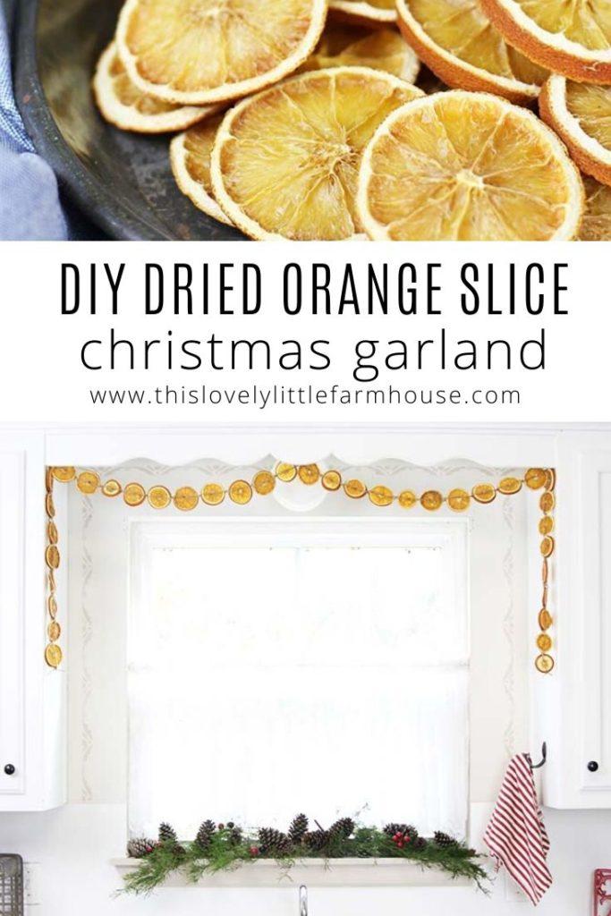Diy Dried Orange Slice Garland Simple Scandinavian Style Christmas Decor This Lovely Little Farmhouse
